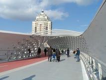 Nieuwe brug in Astana stock fotografie