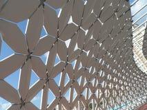 Nieuwe brug in Astana stock foto
