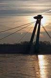 Nieuwe brug in Bratislava royalty-vrije stock afbeelding