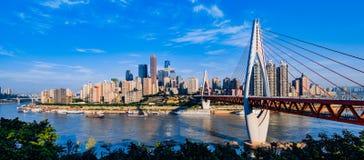 Nieuwe brug in Chongqing Royalty-vrije Stock Afbeelding