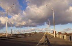 Nieuwe brug in Kiev Stock Afbeelding