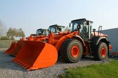 Nieuwe bulldozers Royalty-vrije Stock Afbeeldingen