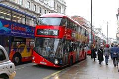 Nieuwe Bus voor Londen Stock Afbeelding