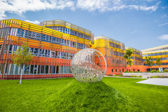 Nieuwe Campus WU, de Universiteit van Wenen van Economie en Zaken Stock Afbeelding