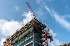 Nieuwe Commerciële bouwconstructie in Noord-Amerika stock foto