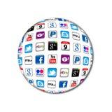 Nieuwe communicatie Apps bel Stock Foto's