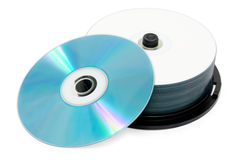 Nieuwe compact-discs Stock Afbeelding