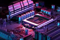 Nieuwe computermotherboard royalty-vrije stock afbeeldingen