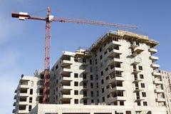 Nieuwe concrete bouw Stock Afbeelding