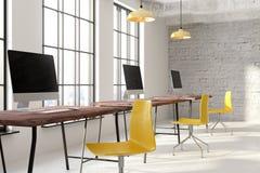 Nieuwe coworking bureau binnenlandse kant Royalty-vrije Stock Afbeelding