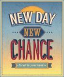 Nieuwe Dag, nieuwe kans stock illustratie