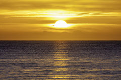 Nieuwe dag op zee Stock Foto's