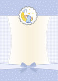 Nieuwe de aankondigingskaart van de babyjongen Stock Fotografie