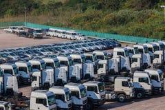 Nieuwe de Auto's van voertuigenvrachtwagens Royalty-vrije Stock Afbeeldingen