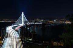 Nieuwe de Baaibrug van San Francisco-Oakland Stock Afbeeldingen