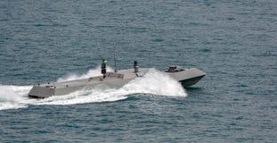 Nieuwe de hoge snelheids zeeinterceptor van de Marine van Singapore royalty-vrije stock foto