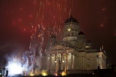 Nieuwe de jarenvooravond van het vuurwerk Stock Afbeelding