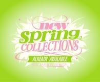 Nieuwe de lenteinzamelingen Stock Afbeelding