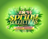 Nieuwe de lenteinzamelingen die ontwerp adverteren Royalty-vrije Stock Afbeelding