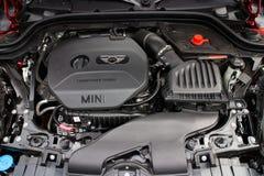 Nieuwe de motorruimte van Mini Cooper Stock Foto's