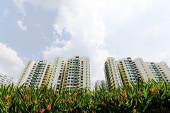 Nieuwe de Overheidsflats van Singapore Stock Afbeeldingen