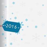 Nieuwe de sneeuwvlokken van de jaarkaart royalty-vrije illustratie