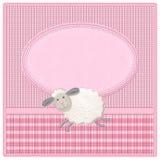 Nieuwe de uitnodigingskaart van het babymeisje Stock Afbeelding