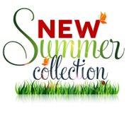 Nieuwe de zomerinzameling, marketing campagne Royalty-vrije Stock Afbeelding