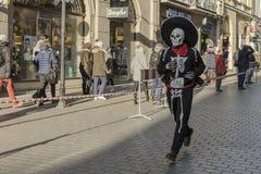 Nieuwe die jaar` s Vooravond in Krakau in werking wordt gesteld Royalty-vrije Stock Fotografie