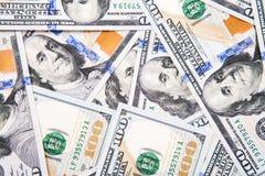 Nieuwe 100 dollarrekening Stock Afbeeldingen