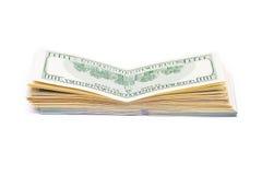 Nieuwe 100 dollars door dichte omhooggaand Stock Fotografie