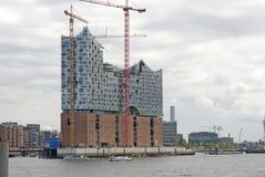 Nieuwe elbphilharmonie, Hamburg, Duitsland Stock Afbeelding