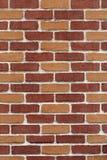 Nieuwe en schone bruine bakstenen muur Royalty-vrije Stock Foto