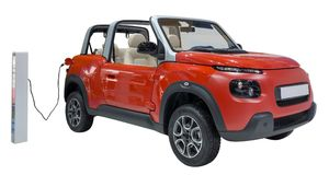 Nieuwe energieauto royalty-vrije stock afbeeldingen