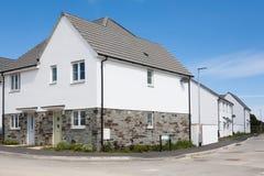 Nieuwe Engelse Huizen Stock Foto