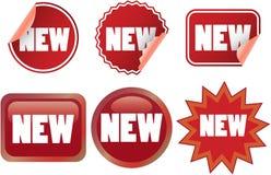 Nieuwe etiketten Royalty-vrije Stock Foto's