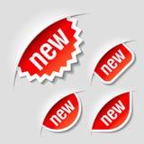 Nieuwe etiketten Stock Afbeelding