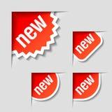 Nieuwe etiketten Stock Afbeeldingen