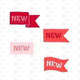Nieuwe etiketten Illustratie op witte achtergrond Royalty-vrije Stock Foto's