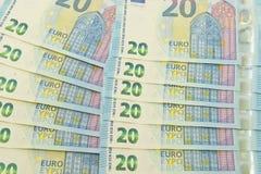 Nieuwe euro munt Royalty-vrije Stock Foto