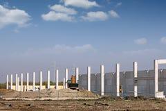 Nieuwe fabrieksbouwwerf Royalty-vrije Stock Foto's