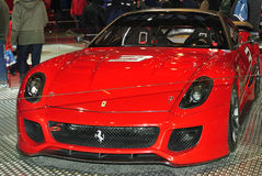 Nieuwe Ferrari in Motorshow Royalty-vrije Stock Afbeelding
