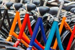 Nieuwe fietsen voor verkoop Royalty-vrije Stock Foto's