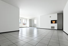 Nieuwe flat, lege ruimte Stock Afbeeldingen