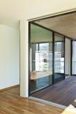 Nieuwe flat, terras royalty-vrije stock foto's