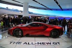Nieuwe 2018 Ford GT supercar op Vertoning bij Noordamerikaanse Internationale Auto toont Royalty-vrije Stock Foto's