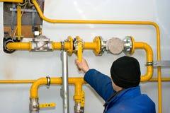 Nieuwe gas-distributie post Stock Afbeelding