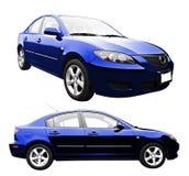 Nieuwe Geïsoleerdee Auto Royalty-vrije Stock Afbeeldingen
