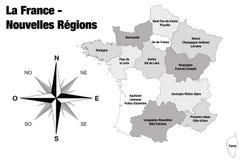 Nieuwe gebieden van Frankrijk - definitieve versie stock illustratie