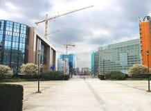 Nieuwe gebouwen in Brussel. Stock Foto's